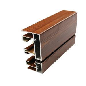 Buy cheap Штранг-прессование рамки алюминия 20 кс 80 стеклянное, дверные рамы деревянного финиша алюминиевые product
