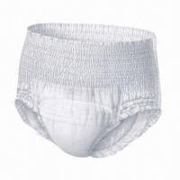 Buy cheap Adult Pull-up Diaper, Cloth-like Film, Made of Nonwoven, Pulp, SAP, Soft and Breathable product