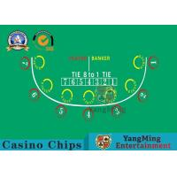 Buy cheap Anti - Fade Baccarat Table Layout For 10 Players In Casino Gambling Games product