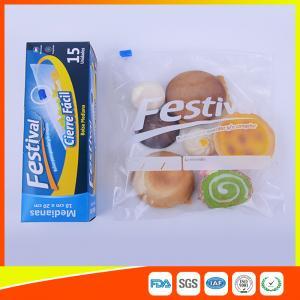 Buy cheap Transparent Ziplock Plastic Food Storage Bags Resealable , Zip Seal Food Bags product