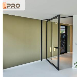 Buy cheap Double Tempered Glazed Middle Swing Pivot Door / Thermal Break Aluminum Profile Doors product