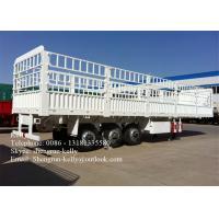 China 13 Meter Triple Axle Cargo Side Wall Trailer , 80 ton transportation trailer wholesale