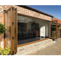 Buy cheap Double Glass Soundproof Folding Door Exterior Accordion French Doors product
