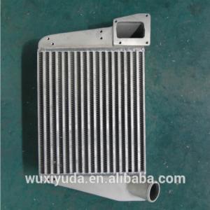 o refrigerador de ar da carga do refrigerador intermediário soldou o refrigerador do automóvel do permutador de calor da aleta da placa do permutador de calor da barra da placa