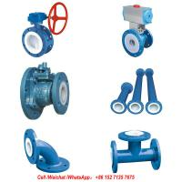 Buy cheap PFTE Lined Ball valve Butterfly valve check valve  stop valve Fluorine lined pipe fittings for Acid Chemical Tank product