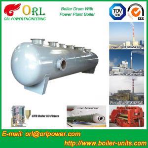 Buy cheap Energy Saving Floor Standing Boiler Mud Drum , Grey High Pressure Drum product