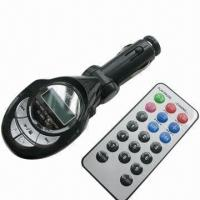 China MP3 Player Car Kit/FM Radio Transmitter, Supports Digital LCD Display/USB Host, SD/MMC Card, Line-in on sale
