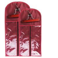 Buy cheap Custom wig bag pvc hair extension packaging silk bag and wooden hanger can print logo.Size 29CM*65CM. product