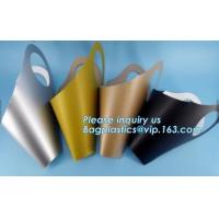Buy cheap fresh flower boxes witPlant Flower Packaging Takeaway Clear PP bag with handles, High Quality Flower Plastic Carrier Bag product