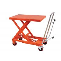 Manual Hand Portable Hydraulic Lift Table Rental , Single Scissor Lift Table For Cargo
