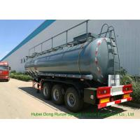 Buy cheap Heavy Duty Chemical Tank Trailers For 30 - 45MT Sodium Hydroxide Transportation product