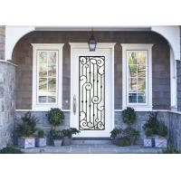 Buy cheap Antiseptic Custom Wrought Iron Doors With Glass Inspiration Craftsmanship product