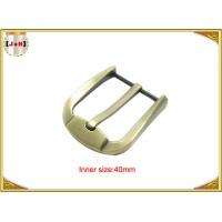 Buy cheap Fashion Gold Zinc Alloy Pin Belt Buckle For Man / Boy 40mm Customized product