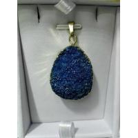 Buy cheap Gemstone Blue Druzy Pendant , Natrual Agate Slice Loose Drusy Stones With Different Color product