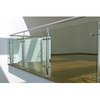 Buy cheap Interior Stainless Steel glass balustrade fittings, laminated glass balustrade product
