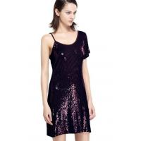 Buy cheap Sequin Embroidery Bling Bling Party Dresses , One Shoulder Club Dress Going Out Wear product
