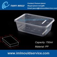 Buy cheap PP 750ml clear thin wall rectangular plastic containers mould manufacturer and supplier product