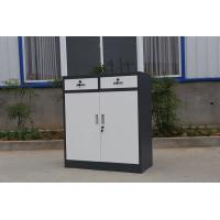 Buy cheap Durable storage cupboard swing open full height file cabinet glass and steel door product