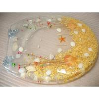 China dry flower poly resin toilet seat,17'18'19'Uropean standard,USA stardard for sale