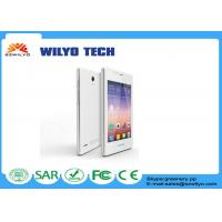 Buy cheap White 4.0 Inch Small Touch Screen Cell Phones MT6572 Dual Sim Wifi Bluetooth product