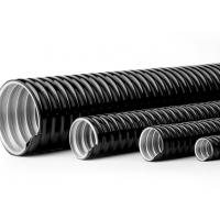 Buy cheap PVC Coated Galvanized Flexible Conduit , PVC Coated Flexible Metal Electrical Conduit Pipe product