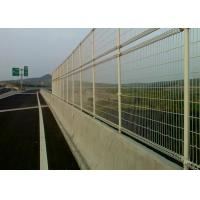 Buy cheap Green Powder Coated Steel Wire Fencing Security For Highway , 48mmx1.0mm Size product