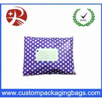 Buy cheap Purple White Polka Dot Printed Post Plastic Mailing Bags Inflatable Packaging product