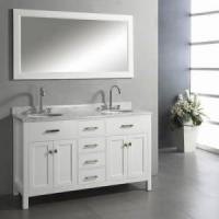 Buy cheap White Double Sink Bathroom Vanity product
