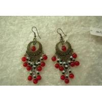 Earrings Glass Beads Alloy