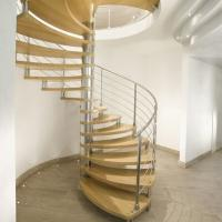 Buy cheap Modern Design Indoor Stairs Stainless Steel Railing Glass Spiral Staircase product