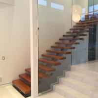Buy cheap Australia Design Mono Stringer Staircase Beautiful Straight Custom Size Staircase with Colorable Tread product