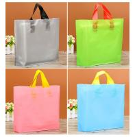 Buy cheap Multi Colored Custom Plastic Packaging Bags With Handle And Logo Printed product