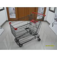 Buy cheap 210L Asian Wire Shopping Cart shopping trolley With 5inch swivel flat casters product