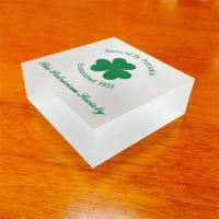 Buy cheap Printing logo stand clear acrylic block high quality acrylic photo frame product