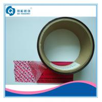 Buy cheap Red Adhesive Anti-Counterfeiting Tamper Evident Tape For Paper Packing product