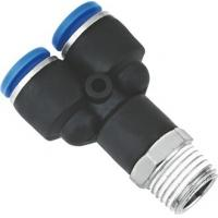 Buy cheap Y Shaped Air NPT Threaded Fittings Connectors Metric Push To Connect One Touch product