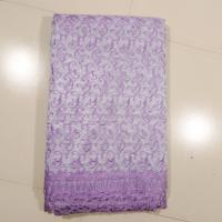 China Sign Organza Lace Curtain Fabric , Embroidered on sale