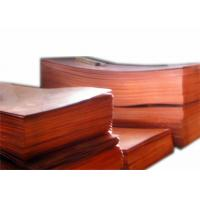 Buy cheap 0.1mm 1mm Decorative Copper Sheets , Pure Copper Plate For Engraving JIS H3100 C1020 product