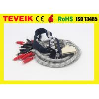 Buy cheap EEG cable, DIN1.5 socket, 1m , crocodile clip, with red cover product