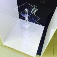 Buy cheap clear acrylic 5 tier square cake display racks cupcake stand for birthday cake display rac product