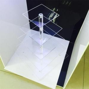 wholesale glass cake stand/clear acrylic sunglass display rack