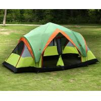 Buy cheap Non-toxic 190T Polyester Fabric Outdoor Camping Tent 2 Room For 8 To10 Person product
