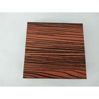 Buy cheap 1.4 Thickness Flat Wood Finish Aluminium Profiles Strong Impact Resistance product