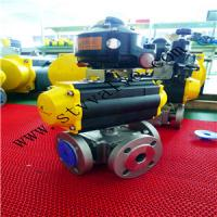 Buy cheap 3 PCS Threaded Pneumatic Ball Valve with Limited Switch product