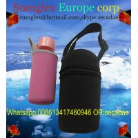 Buy cheap neoprene water bottle holder with shoulder strap from wholesalers