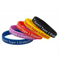 Buy cheap Size 202*12*2mm Custom Promotional Silicon Bracelet,Adjustable Silicon Wristband from wholesalers