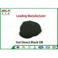 Buy cheap Vat Direct Black DB Textile Cotton Fabric Dye Chemicals Used In Textile Dyeing product