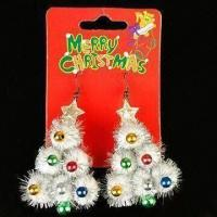 Buy cheap Earrings, Decorated with Christmas Tree, Available in Various Colors product