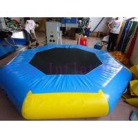 Buy cheap Yellow / Blue 3m Diameter Inflatable Water Park Trampoline PVC Toy For Water Park product
