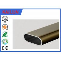 Buy cheap 6061 Aluminum Oval Tubing , silver / Champagne Anodized Aluminum Structural Tube product